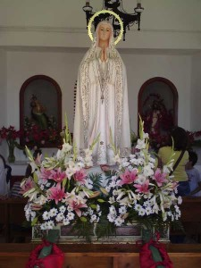 The virgin safely in her chapel